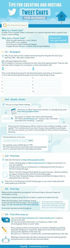 5 Must Follow Tips to Create and Host a Twitter Chat #SocialMedia #Infographic