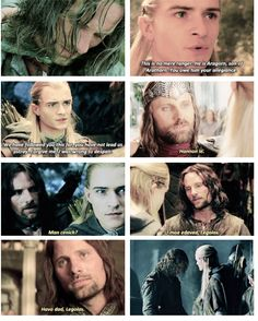 lord of the rings daily Legolas And Aragorn, Slash Fiction, Jrr Tolkien, Drarry, Middle Earth, Lord Of The Rings, The Hobbit, Elves, Stones