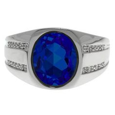 Details about  /2.5 Ct Oval Blue Sapphire Ring Women Jewelry 14K White Gold Plated Free Shipping