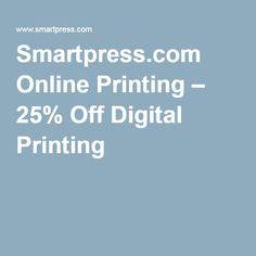 Smartpress.com Online Printing – 25% Off Digital Printing