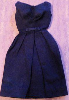 Rare variation very dark blue 1964 Barbie Campus Belle Dress recently sold for $285.