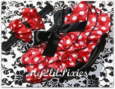 Love that Minnie Bloomer Set Red and white polka by my2lilpixies, $16.95 - Would love to have this for Katarina's first birthday party! =)