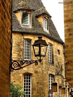 Streetlights of Sarlat, Aquitaine, France