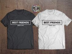 Best friends since.. I know you for all my life love #tees2peace #bestfriends #matchingshirts #bbf #bff