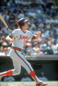 Bruce Bochte of the California Angels bats against the Baltimore. Deck Over Paint, Carnival Glory, Angels Baseball, Baseball Pictures, Deck Plans, Pool Decks, Baseball Games, Baltimore Orioles, Major League
