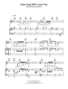 Ellie Goulding: How Long Will I Love You sheet music for piano http://www.sheetmusicdirect.com/se/ID_No/117065/Product.aspx