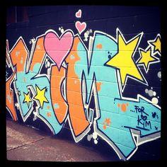 Painted this yesterday. #kim #kone #graffiti #streetart #urban #colours #graff #spraypaint #paint #painting streets #montana #belton #mtn94 #stars #hearts #love #instagram #arrows #drips #kimberley #oldschool by kone1972