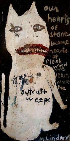 untitled work by Misty Lindsey (contemporary) - (mediacache) Creepy Art, Weird Art, Kunst Inspo, Art Inspo, Arte Horror, Horror Art, Outsider Art, Art And Illustration, Art Brut