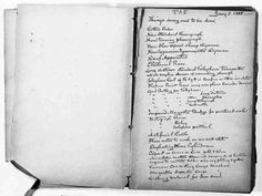 I just love this. Journal pages of famous people. This is Thomas Edison's To-Do List.