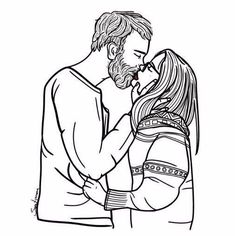 Find images and videos about girl, art and couple on We Heart It - the app to get lost in what you love. Love Illustration, Watercolor Illustration, Couple Drawings, Art Drawings, Tumblr Outline, Tumblr Hipster, Beautiful Drawings, Illustrations Posters, Line Art
