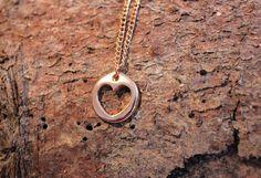 Halskette rosegold - Herz von Le petit bouton auf DaWanda.com
