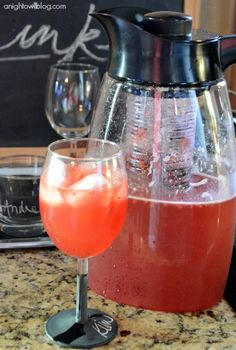 Citrus Berry Sangria with the Primula Flavor It Pitcher