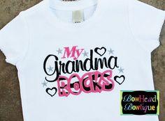 My Grandma Rocks - White Zebra Applique Boutique Shirt or Onesie for Girls $22 Baby Girl Onsies, Baby Boy Swag, Pretty Baby, Baby Love, Twin Girls Outfits, Applique, Baby Gadgets, White Zebra, New Baby Girls