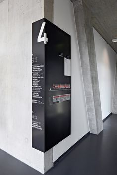 University of Television and Film Munich Industrial signage, Bussines inventive… Directional Signage, Wayfinding Signs, Map Signage, Signage Design, Booth Design, Stand Design, Design Design, Design Ideas, Industrial Signage