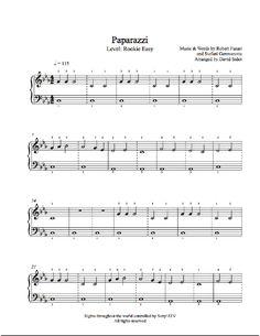 Paparazzi by Lady Gaga Piano Sheet Music | Rookie Level