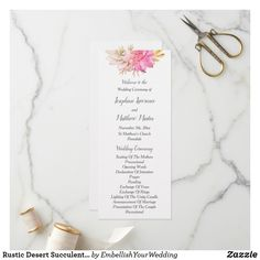 Shop Simple Floral Watercolor Bouquet Wedding Program created by FreshAndYummy. Personalize it with photos & text or purchase as is! Order Of Wedding Ceremony, Fern Wedding, Sage Wedding, Wedding Ceremony Programs, Floral Wedding, Bouquet Wedding, Gold Wedding, Glitter Wedding, Wedding Programs Simple