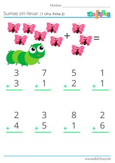 Addition And Subtraction Practice, Math Subtraction, Math Fractions, Math For Kids, Fun Math, Kindergarten Goals, Abacus Math, Math Pages, Math Groups