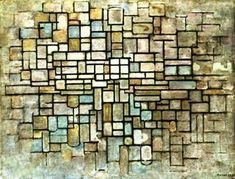 Composition in Blue, Grey and Pink by Piet Mondrian (1872-1944, Netherlands)  - Follow WahooArt at http://www.pinterest.com/wahooartdotcom/
