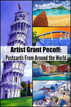 Artist Grant Pecoff will inspire you with his art from around the world! #art #travelart #postcards #grantpecoff