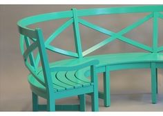 Curved Outdoor Bench Outdoor Garden Furniture In Custom Paint Colors On  Mahogany
