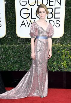 Claire Foy Dress: Erdem 74th Golden Globe Awards, Golden Globes After Party, Dress Outfits, Fashion Outfits, Fashion 2017, Nice Dresses, Formal Dresses, Petite Dresses, Red Carpet Dresses