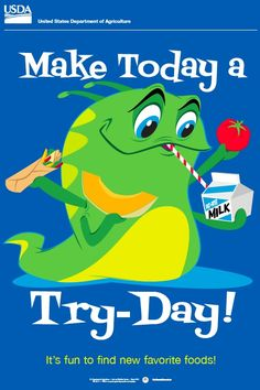 Get FOUR ELEMENTARY POSTERS, including this one, at http://www.fns.usda.gov/team-nutrition/elementary-posters