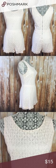 Blush Punk Lace Romper New no tags Other