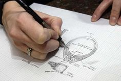 """What does it take to be a jewelry designer? """"You really have to understand how things work,"""" she said. """"It's the same way an engineer would... TIP: USE OF GRAPH PAPER MAKES DRAWING EASIER"""