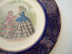 Lovely Cobalt Blue Imperial China Plate от FabricatedFamily