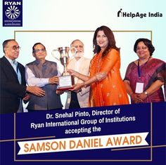 Ryan International School receives the prestigious Samson Daniel Award
