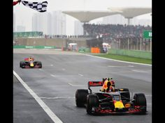 GP Shanghai China 9th of April 2017. Max Verstappen finishes on P3 just in front of Ricciardo after starting the race from P16.