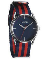 Nixon Unisex-Armbanduhr The Mellor Navy/Red Nylon Analog Quarz Tom Ford Makeup, Vintage Watches For Men, Unisex, Blue Fabric, Mens Fashion, Bags, Nyx Matte, Matte Lipsticks, Nixon Watches