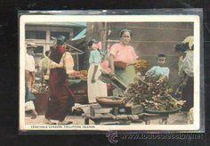 TARJETA POSTAL DE FILIPINA. VEGETABLE VENDORS. MANILA. (Postales - Postales Extranjero - Asia - Filipinas)