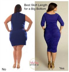to Dress a Full Bottom – Best skirt length for a big bottom Clothes For Women Over 40, Plus Size Fashion For Women, Plus Size Womens Clothing, Funky Fashion, Fashion Over 40, Fashion Tips, Fashion Trends, Women's Fashion, Types Of Dresses