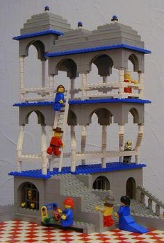 """Escher's 'Belvedere' in LEGO"" by Andrew Lipson and Daniel Shiu"