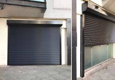 Owner pleased with the installation of our office front security shutter to his TV production company in Holborn, Central London. Security Shutters, Rolling Shutter, Roll Up Doors, Roller Shutters, Shutter Doors, Security Solutions, Production Company, Galvanized Steel, Coffee Shop