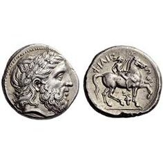 Greek coins, Macedonia, Philip II, Tetradrachm