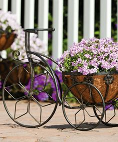 Another great find on #zulily! Black Tricycle Planter #zulilyfinds