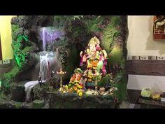 Ganpati decoration 2017 at my friend home adai - YouTube