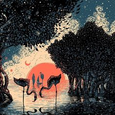 """""""Language of the birds."""" Photo taken by @james.r.eads.art on Instagram"""