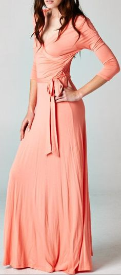 Madison Dress in Georgia Morning - I think this would be my favorite travel outfit! Casual Dresses, Peach Dresses, Coral Dress, Fashion Outfits, Womens Fashion, Dress Me Up, Passion For Fashion, Dress To Impress, Clothes For Women