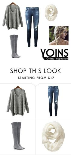 """""""yoins.com"""" by totallysurfernurd ❤ liked on Polyvore featuring AG Adriano Goldschmied, Gianvito Rossi, Old Navy and yoins"""