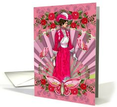 elegant lady any occasion card (929321)
