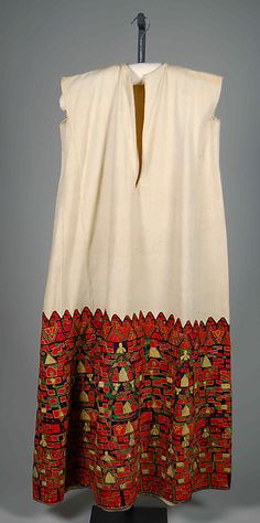 Wedding dress | Greek | fourth quarter 19th century | linen, silk, metallic | Brooklyn Museum Costume Collection at The Metropolitan Museum of Art | Accession Number: 2009.300.6571