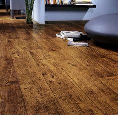 parquet stratifié imitation plancher bois de récupération à noeuds et fissures