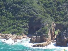 Caves on the Western Head, Knysna.