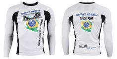 Adding to the pro series line is the new Bad Boy Brazil Long Sleeve Rashguard. After our closer look at the United States version its time for the Brazil Mma Gear, Compression Shorts, Mixed Martial Arts, Rash Guard, Bad Boys, Motorcycle Jacket, Long Sleeve, Jackets, Fashion
