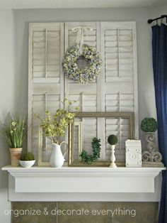 April Mantel - Organize and Decorate Everything! I love that she shows us a new way to do a mantel every month!