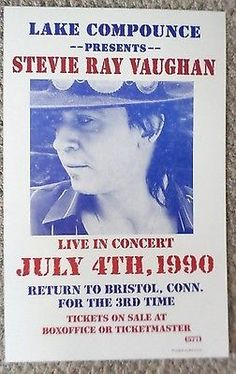 Stevie Ray Vaughan Poster 20x30 inch Pro Canon Photo '80s Live ...