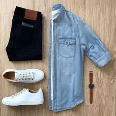 mens clothing fashion tips inspiration outfit grids - Men's style, accessories, mens fashion trends 2020 Mens Casual Dress Outfits, Stylish Mens Outfits, Casual Shirts, Men Dress, Casual Attire, Dress Shoes, Fashion Mode, Tomboy Fashion, Fashion Outfits